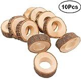 Healifty 10PCS cerchio di legno portatovagliolo fai da te fare kit wedding Pary tavolo ornamento