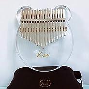 Ronshin Kimi Kalimba Acrylic Thumb Piano 17 Keys with Tuner Hammer Gig Bag