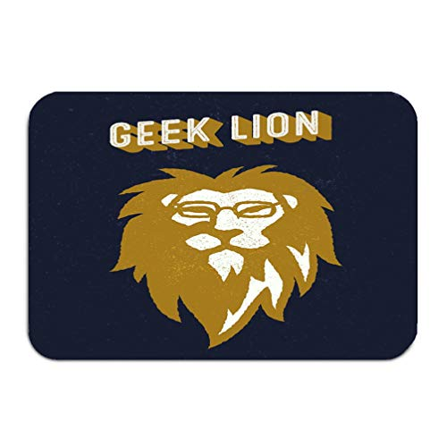 NDJHEH Outside Shoe Non-Slip Color Dot Doormat Geek Lion Apparel Design Vintage Fashion Head Glasses Mats Entrance Rugs Carpet 16 * 24 inch - Geek Dot