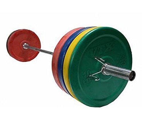 Troy Vtx 104,3Kilogram Colored Olympic Rubber Bumper Plates Weight Bar e paracolpi per Crossfit con Molla
