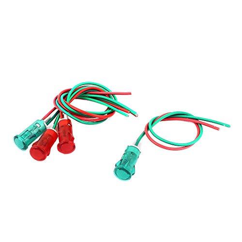 ZCHXD 2 Pair AC 120V/220V 2 Wire Red Green Pilot Signal Indicator Light -