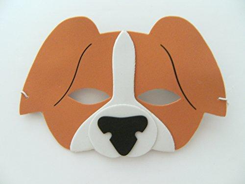 (Maske Hund f. Kindergeburtstag Karneval Fasching Tier Tiere Masken Theater Haustier Hunde)