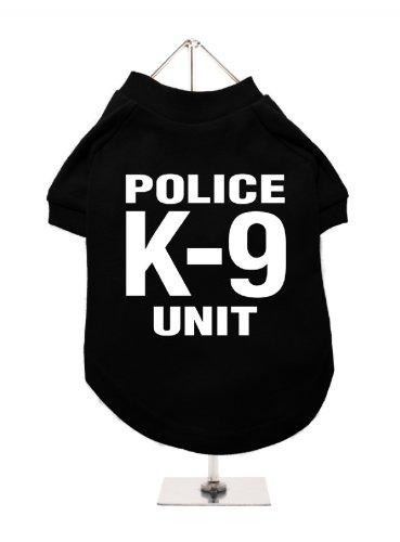 Police K-9 Unit Hunde T-Shirt (Schwarz / Weiß) (Small)