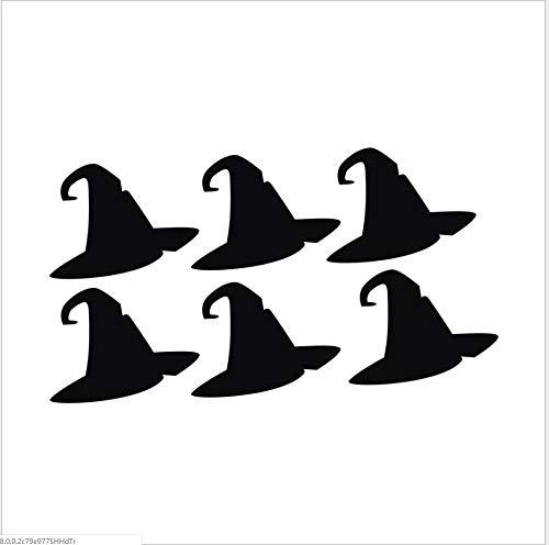Schwarzer Hexenhut Halloween-Wandaufkleberwohnzimmerschlafzimmermöbel-Hintergrundaufkleber