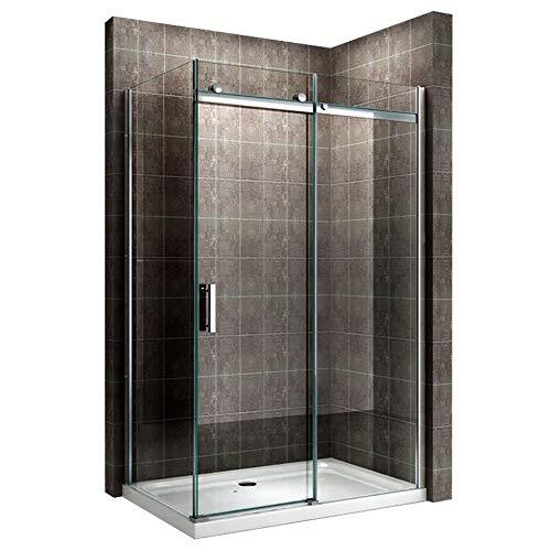 Duschkabine 120x80 cm mit Schiebetür Duschabtrennung Dusche Duschkabine 8mm Klarglas DK806 - alle Groessen