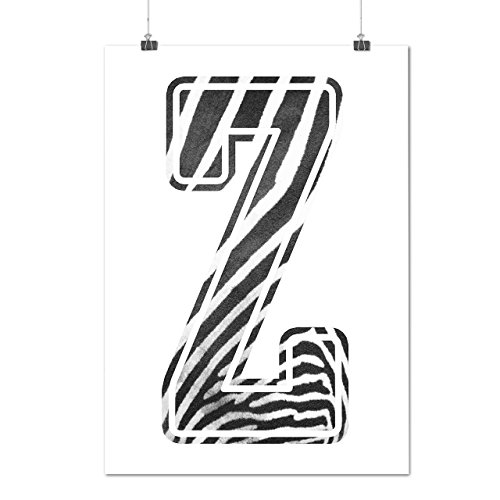 Prinzessin Kostüme Safari (Brief Z Zebra Mode Safari Mattes/Glänzende Plakat A3 (42cm x 30cm) |)