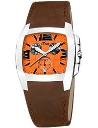Lotus Shiny 15321-9 - Reloj cronógrafo de caballero de cuarzo con correa de  piel 134e7840feee