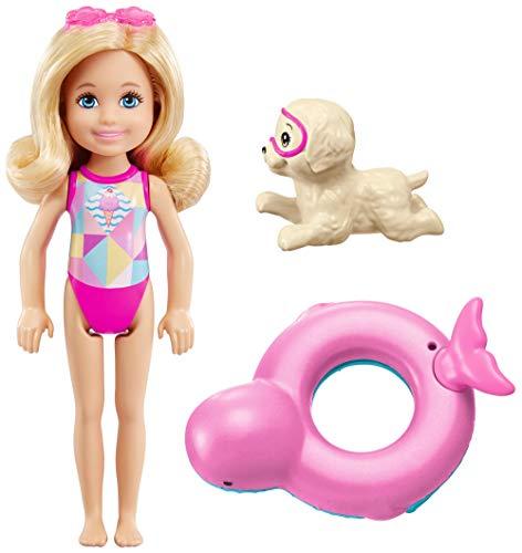 Mattel Barbie FCJ28 Magie der Delfine Chelsea und Farbwechsel-Rettungsring (Barbie-wasser-spiel-puppe)