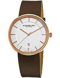 Stuhrling Original Reloj con movimiento cuarzo suizo Man Fairmount Marrón 42 mm