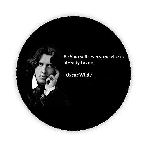 Oscar Wilde - BE Yourself Button Badge 45mm Medium Pinback Pin Back Lapel Novelty Gift
