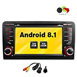 Freeauto für Audi A3/S3 7 Zoll Android 8.1 Betriebssystem Quad Core Auto DVD Player mit Screen Mirroring Funktion & OBD2