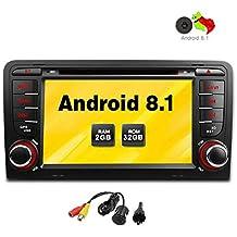 Freeauto Radio estérea de 7 pulgadas Android 8.1 GPS para el reproductor de DVD del coche