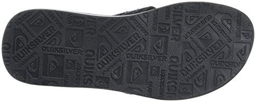 Quiksilver Carver Nubuck, Tongs Homme Multicolore (BLACK/BLACK/GREY)