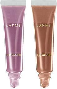 Lakme Lipgloss, Bubblegum, 15ml & Lakme Lipgloss, Vanilla, 15ml