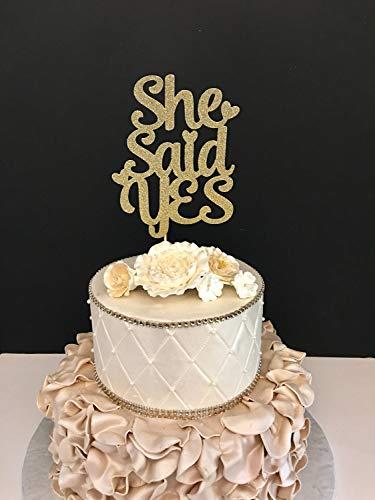 Monsety She Said Yes Verlobungsfeier, Brautparty, Hochzeit, Jahrestag, Party, Gastgeschenke für Braut und Bräutigam
