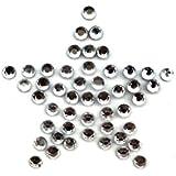 5.ZERO ® 1 Pieza diseño de brillantes Iron-On Hotfix Transferencia mm 30x30