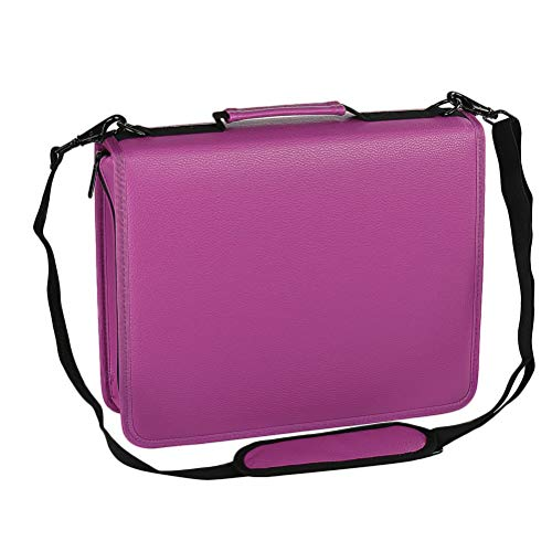 Copic Marker Storage Case (Irinay Kosmetiktasche Stylish Storage Multi Layer Casual Chic Pencil Handle Strap Stilvoll Pen Bag Make Up Cosmetic Case for Artists of All Ages Taschen (Color : Purple, Size : One Size))