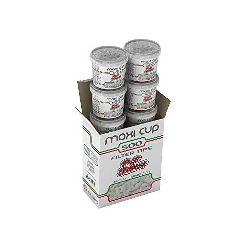 Pop Filters 3000 PopFilters + 300 astucci di filtrini per Sigarette da 500 filtri Lisci Diametro 6mm...
