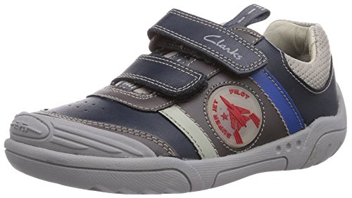 Clarks Wing Time Jungen Derby Schnürhalbschuhe Blau (Navy Leather)
