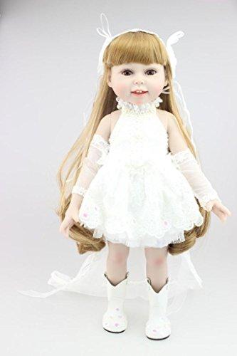 Nicery Schöne Mädchen Spielzeug Puppe High Soft Vinyl 18 Zoll 45cm Naturgetreue Movable Lächeln Prinzessin Hochzeit - Halloween-spiele Die Klasse 2. Für