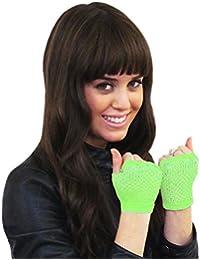 Short Fishnet Fingerless Gloves - Green