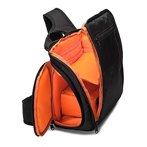 Sguan-wu Outdoor Waterproof Einschulter Rucksack Reisekamera SLR-Fotoobjektivtasche - Orange