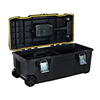 STANLEY FMST1-75761 Tools 175761 FatMax Structural Foam Toolbox with Telescopic Handle, Yellow/Black