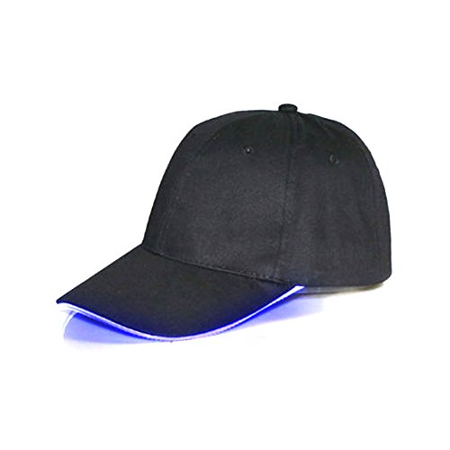 Namsan Herren-Baseballkappe, LED-beleuchtet, leuchtende Party-Mütze, LED-Taschenlampenhut, blau