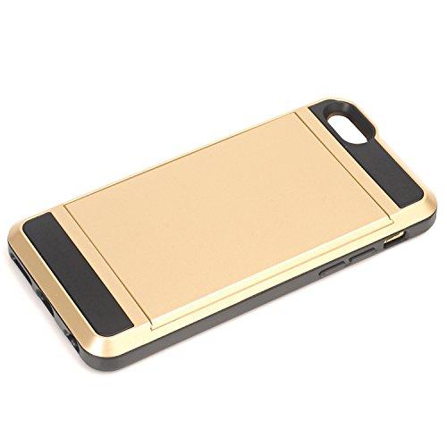 iPhone 6 Coque,EVERGREENBUYING [Slider Series] Ultra Slim léger 2 en 1 IPHONE 6s Cases [Porte coulissante semi-automatique][Housse de Protection] [Fente pour Carte] Cover Pour iPhone 6 / 6S 4.7 inch N Vert Menthe