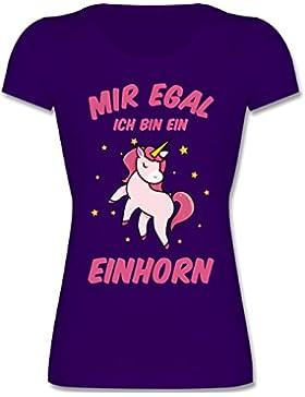 Shirtracer Sprüche Kind - Mir Egal Ich Bin ein Einhorn - Mädchen T-Shirt