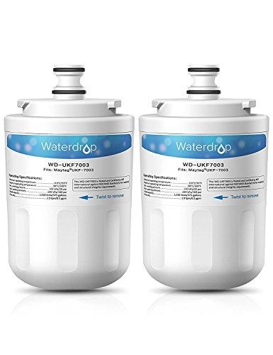 Waterdrop UKF7003 Kühlschrank Wasserfilter Ersatz für Maytag Jenn-Air PUR PuriClean UKF7003, UKF7002, UKF7001; Whirlpool EDR7D1; Smeg 763410342; Beko AP930, AP930S, AP930X; Lamona HJA6100 (2) - Jenn-air-ersatz