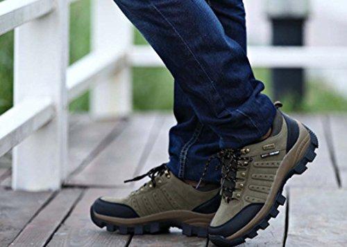 Scarpe Da Coppia Primavera / Autunno Scarpe Da Trekking Outdoor Da Uomo Impermeabili Scarpe Da Trekking Ammortizzanti Scarpe Di Grandi Dimensioni Green