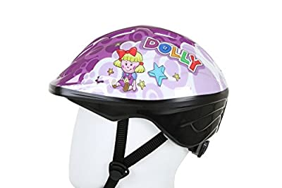 Bumper Dolly Kids Girls Bike Safety Helmet with Cooling Vents - Purple from Bumper