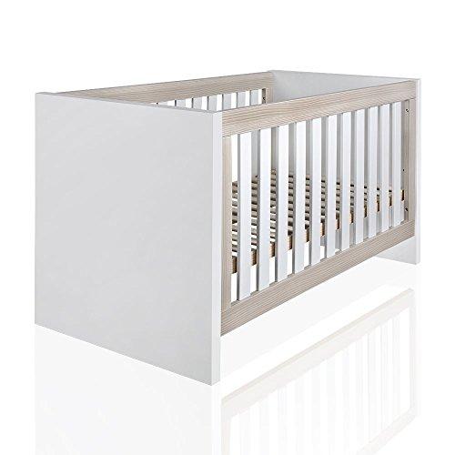 Babybett aus der Serie Atlanta Akaziengrau 140 x 70 cm
