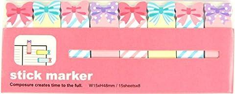 Mini memo und Marken Seiten, wiederverwendbar, Motiv kawaii Schmetterling