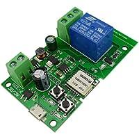 Aihasd 1 canal módulo Autobloqueo WiFi Interruptor inalámbrico 5V/12V Para Control PC Puerta del