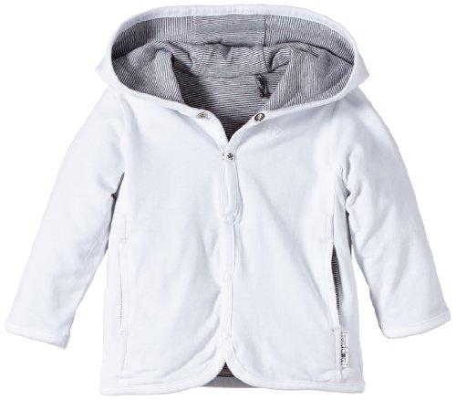 Noppies Unisex - Baby Strickjacke U Cardigan Jersey Rev Hay, Einfarbig, Gr. Neugeborene (Herstellergröße: 68), Weiß