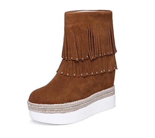 WSS chaussures à talon haut Tête ronde avec décoration métal fashion casual chaussures femme Brown
