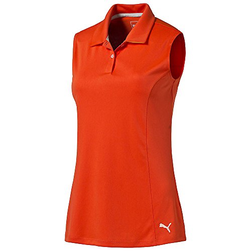 PUMA Golf Damen Crest Pounce Polo Sleeveless (Interlock-golf-shirt)