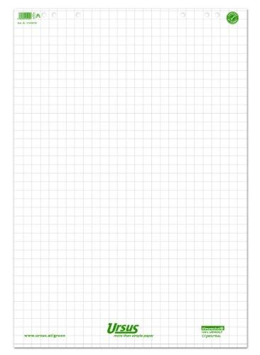 Ursus 608580020 Flipchartblock, kariert, 68 x 99 cm, 80 g/qm, 20 Blatt