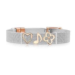 LUXERY Charms Anhänger Individuelle austauschbar für Edelstahl Armband Damen Schmuck selber gestalten Mesh Silber Schmuck Frauen