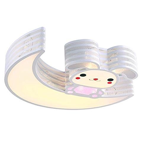 Jungen und Mädchen Cartoon Kinderzimmer Schlafzimmer Deckenlampe kreative Persönlichkeit Studie Decke Wohnzimmer LED-Deckeleuchte,54*9*50cm (warmes Licht)