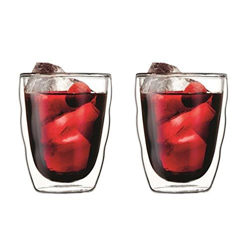 Bodum PILATUS 2-teiliges Gläser-Set (Doppelwandig, Isoliert, Spülmaschinengeeignet, 0,35 liters) transparent