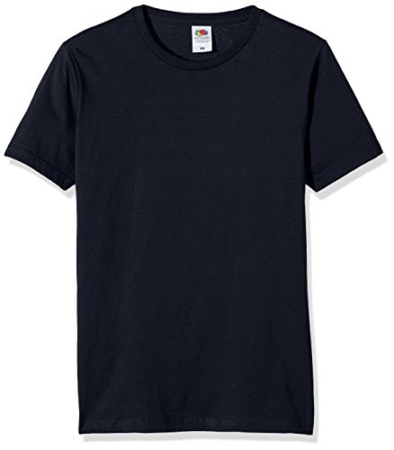 Fruit of the Loom Herren T-Shirt Ss041m Blue (Deep Navy)
