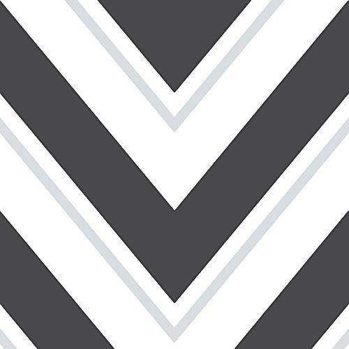 Schwarz Weiß Chevron Und Tapeten (Chevron Rasch Tapete - schwarz und weiß - 304107)