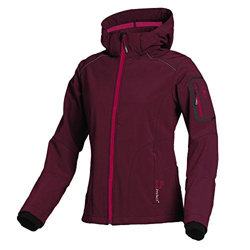 CMP Softshell Outdoor Jacke Damen Franceska, Farbe:Ruby, Größe:36