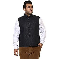 John Pride Men Dark Blue Coloured Nehru Jacket (Sizes: 3XL- 6XL)
