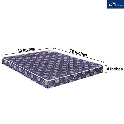 Euro Dreams Eurofit 4-inch Single Size Bonded Foam Mattress (Blue, 72x30x4) Image 3