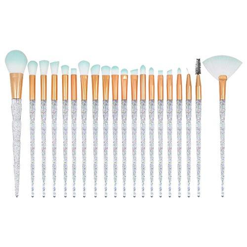 Make-up Pinsel Set,Make-up Pinsel, Make brush, 20 Stück hochwertige Aluminiumrohr und Diamantgriff...