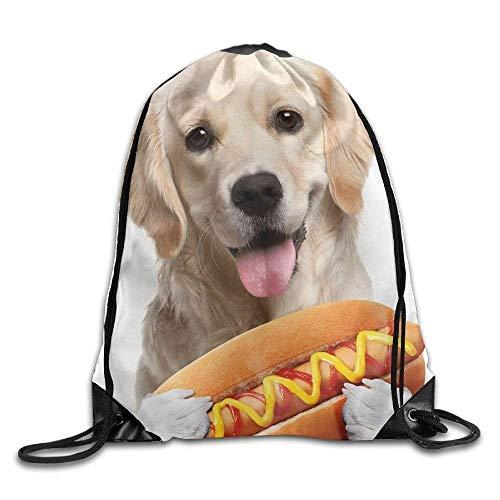 CHSUNHEY Turnbeutel,Sporttaschen,Funny Dog Hot Dog Print Eco-Friendly Luggage Drawstring Backpack Rucksack Shoulder Bags Gym Bag Sport Bag